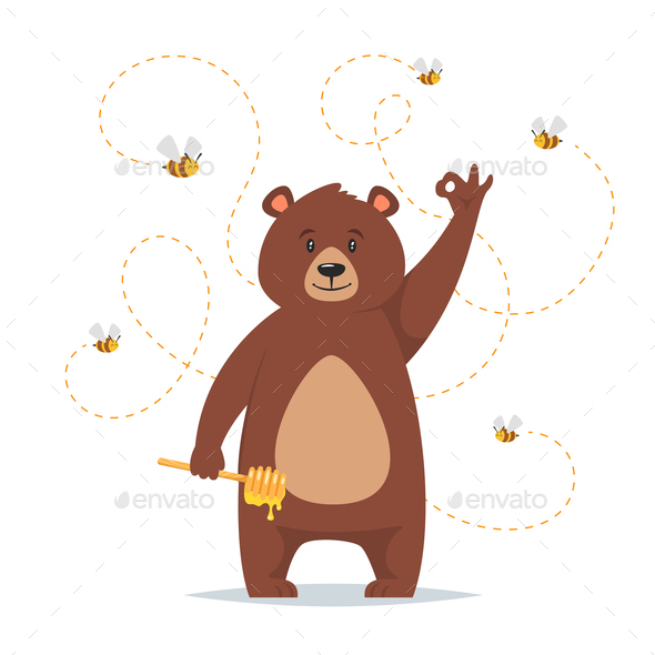 Bear Character - Animals Characters