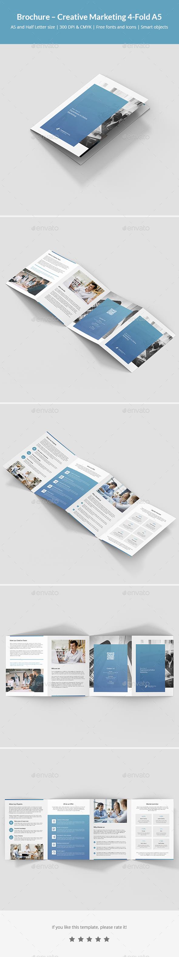 Brochure – Creative Marketing 4-Fold A5 - Corporate Brochures