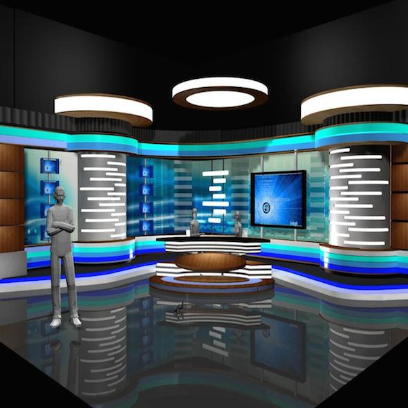 Virtual TV Studio News Set 2 - 3DOcean Item for Sale