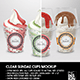Clear Sundae Ice Cream Cups Packaging Mock up - GraphicRiver Item for Sale