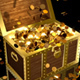 Money Falling into a Treasure Chest - VideoHive Item for Sale