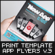 Mobile App Flyers Template v.3 - GraphicRiver Item for Sale