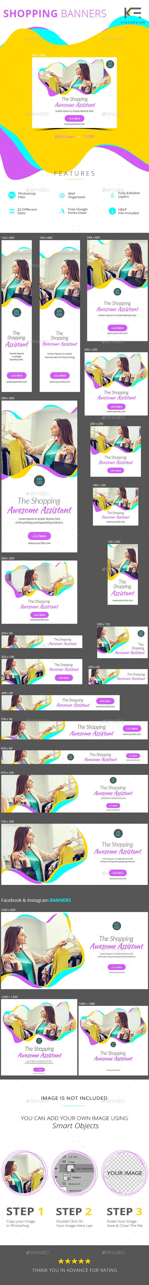 Shopping Banners - Banners & Ads Web Elements