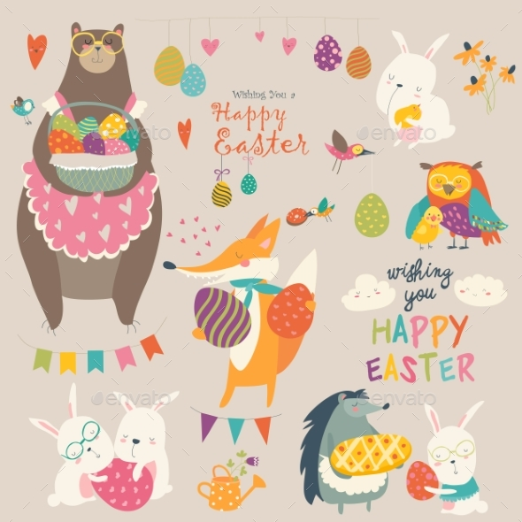 Animals Celebrating Easter - Miscellaneous Seasons/Holidays