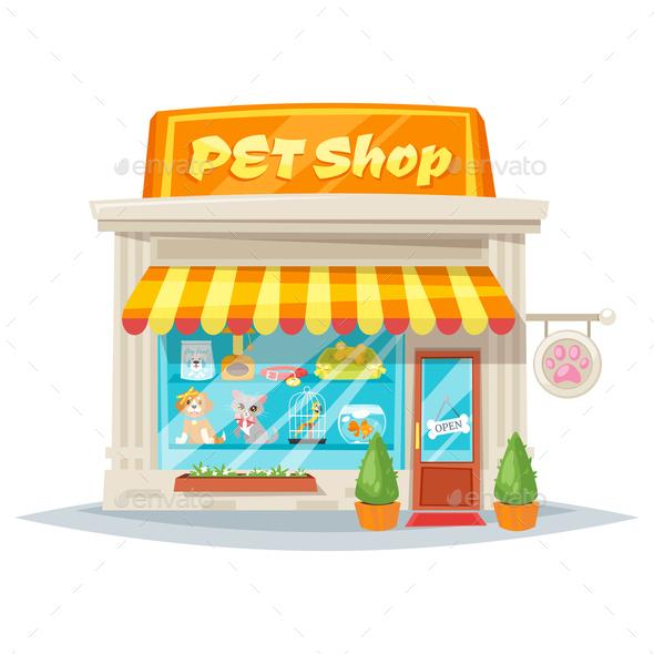 Pet Shop Facade - Animals Characters