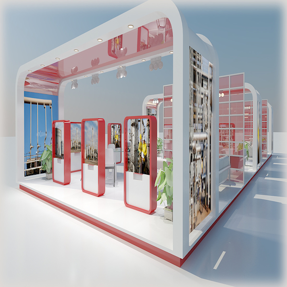 Exhibition Stand 31 - 3DOcean Item for Sale