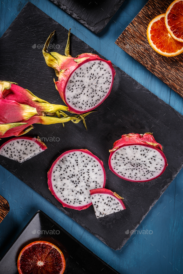 Pitahaya or dragon fruit - Stock Photo - Images
