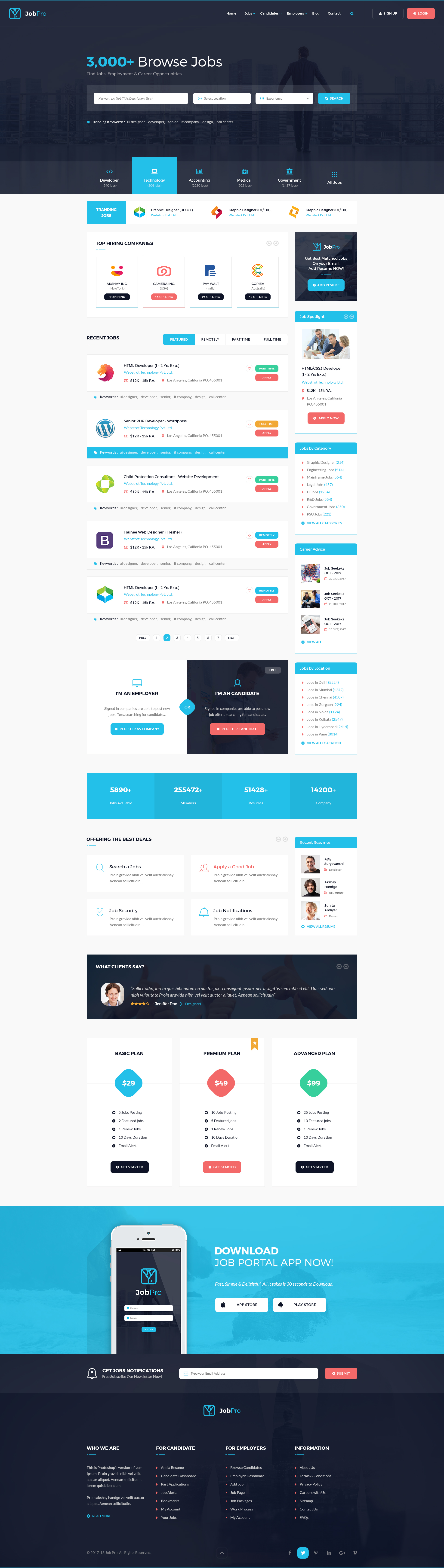 Job Pro - Job Board HTML Template by webstrot | ThemeForest