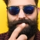 Smiling Long Bearded Hipster with His Sunglasses on - VideoHive Item for Sale