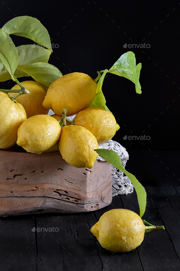Still Life With Lemons - Stock Photo - Images