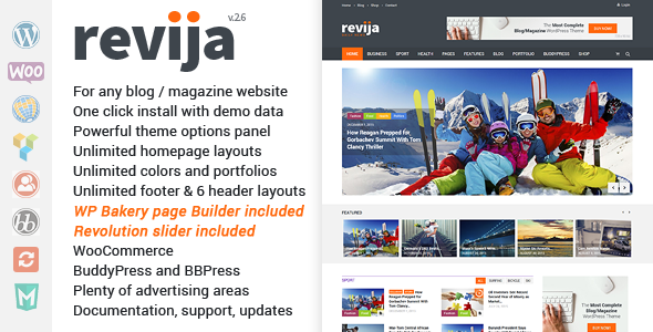 Revija – Blog/Magazine WordPress Theme - News / Editorial Blog / Magazine