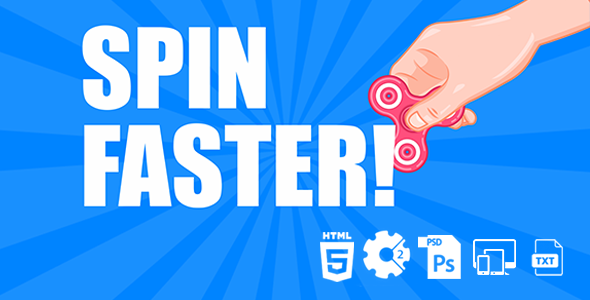 Spin Faster HTML5 Game - CodeCanyon Item for Sale