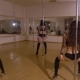 Four Girls in Black Lingerie Dancing Pole Dance - VideoHive Item for Sale
