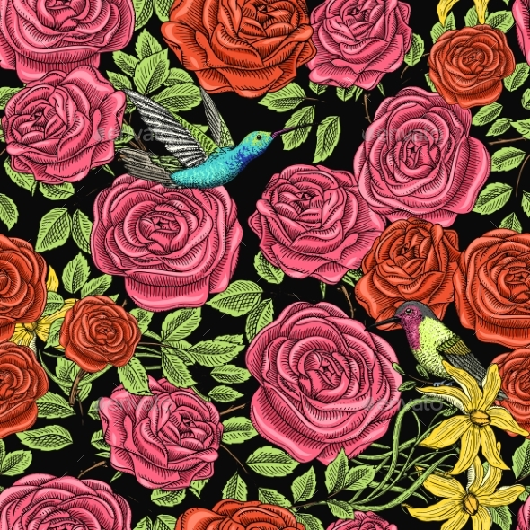 Seamless Pattern - Flowers & Plants Nature