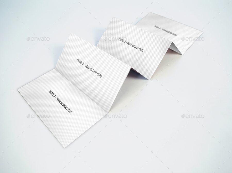 6 panel accordion fold brochure psd mockup by  mockpro