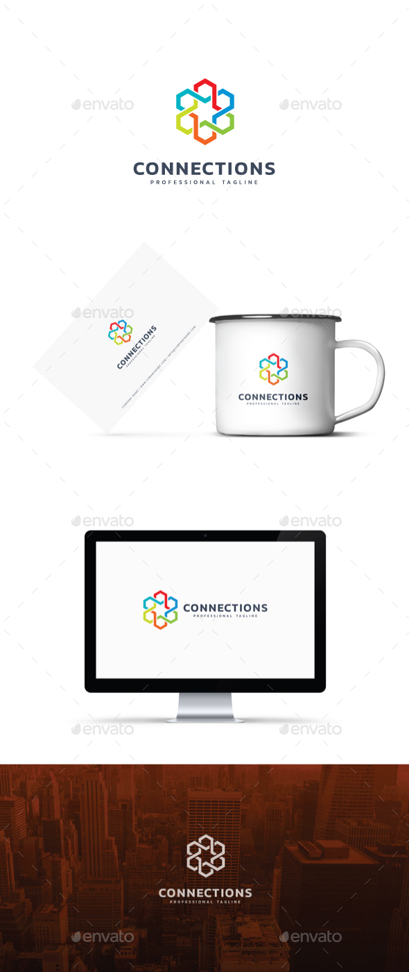 Connections Logo - Abstract Logo Templates