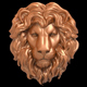 Lion head bas-relief 3D print model