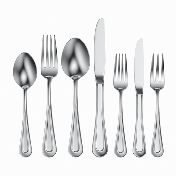 Table Cutlery 7 Items Set 3D Model - 3DOcean Item for Sale