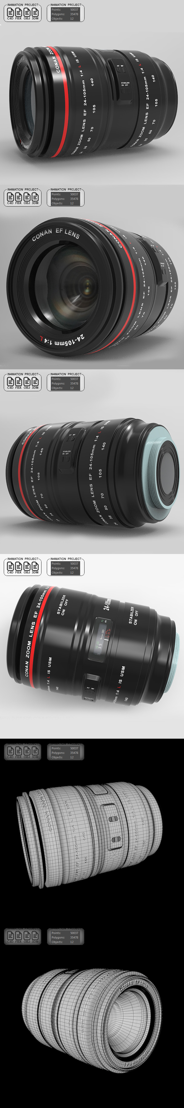 Zoom 24-105mm - 3DOcean Item for Sale