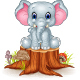 Elephant on Tree Stump - GraphicRiver Item for Sale