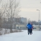 Three Young Athletes Running in Winter Outdoor - VideoHive Item for Sale