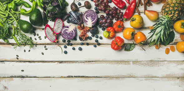 Helathy raw vegan food cooking background - Stock Photo - Images