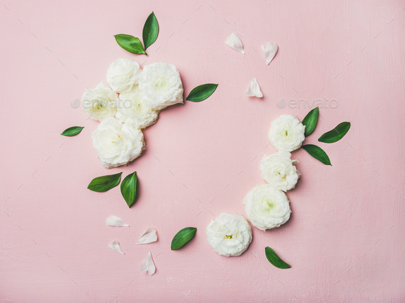 Floral background with blank card - Stock Photo - Images