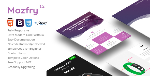 mozfry | product landing template (landing pages) Mozfry | Product Landing Template (Landing Pages) 01 preview 590x300 mozfry
