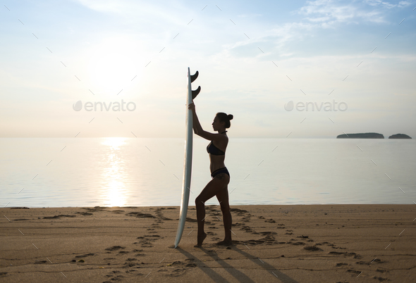 girl or young woman in shape standing - Stock Photo - Images