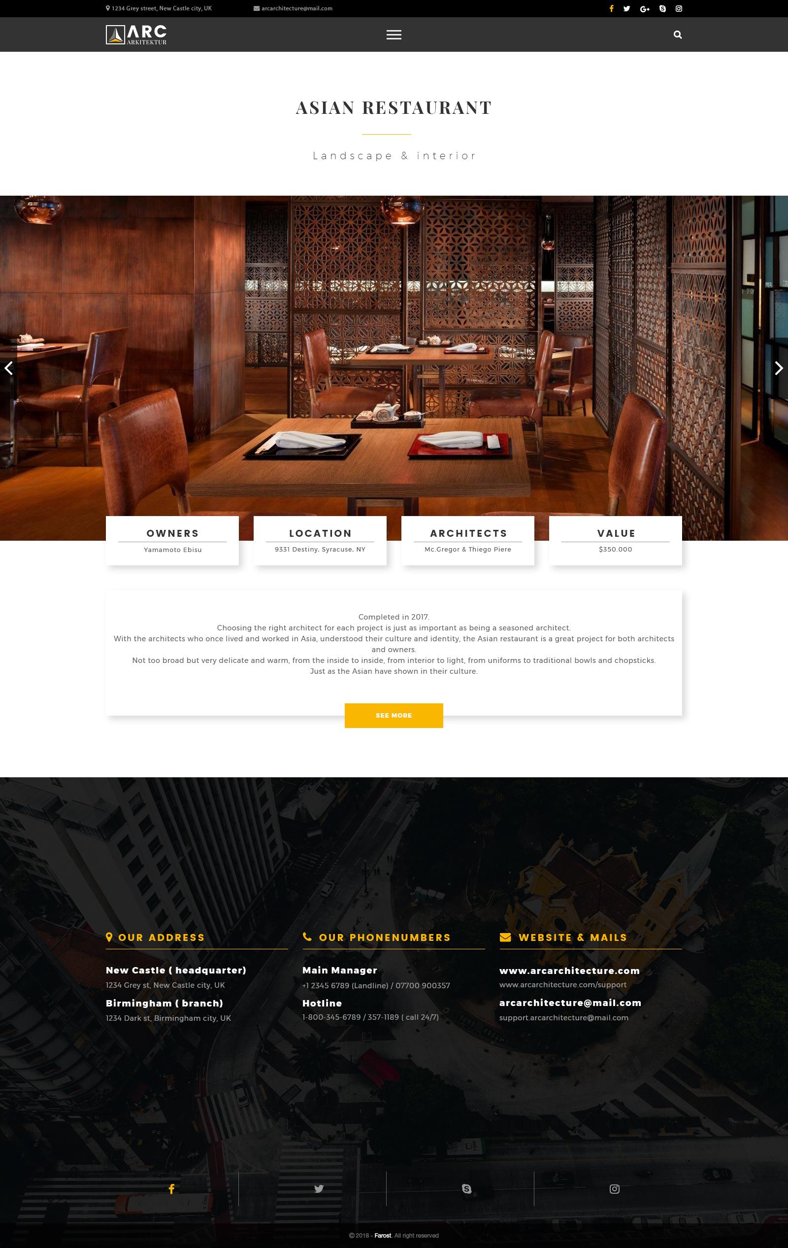 Arc Architecture Interior Design Psd Template