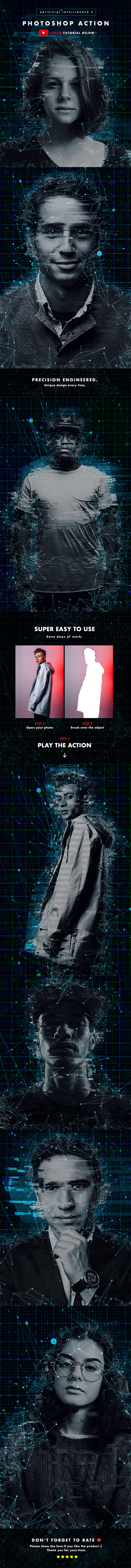Artificial Intelligence 3 Photoshop Action - Photo Effects Actions