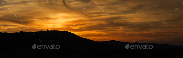 Sunset in Tuscany - Stock Photo - Images