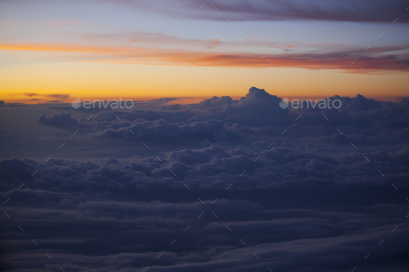 Sunrise over clouds - Stock Photo - Images
