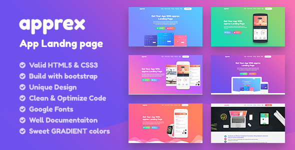 apprex- app,Saas ,Software , Web-app HTML5 Responsive Landing page Template - Marketing Corporate