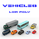 Low-poly sity cars - 3DOcean Item for Sale