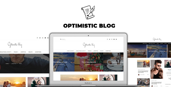 Image of Optimistic Blog -Clean  HTML Blog Template