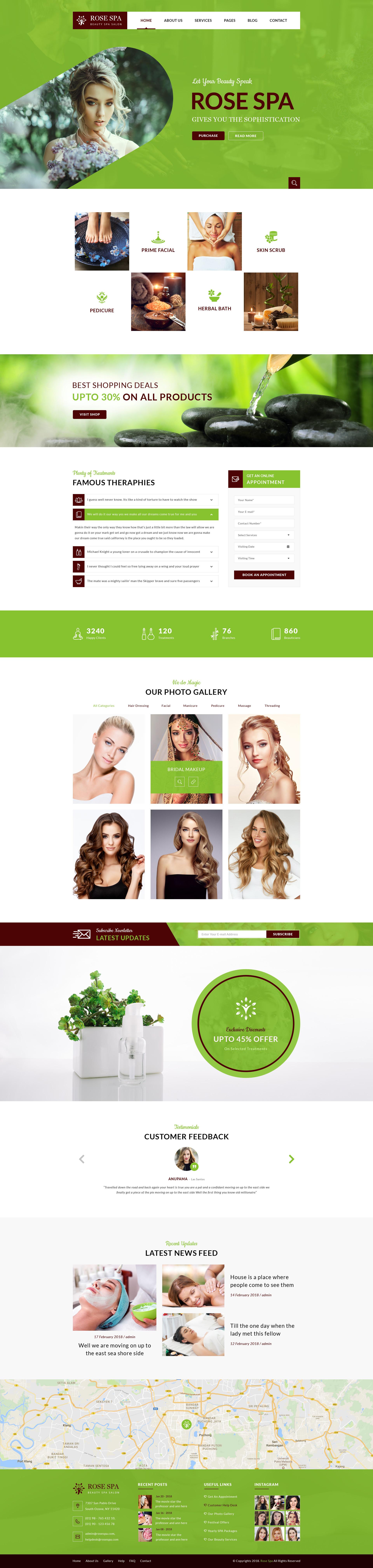 Rose SPA - Beauty SPA Salon PSD Web Template