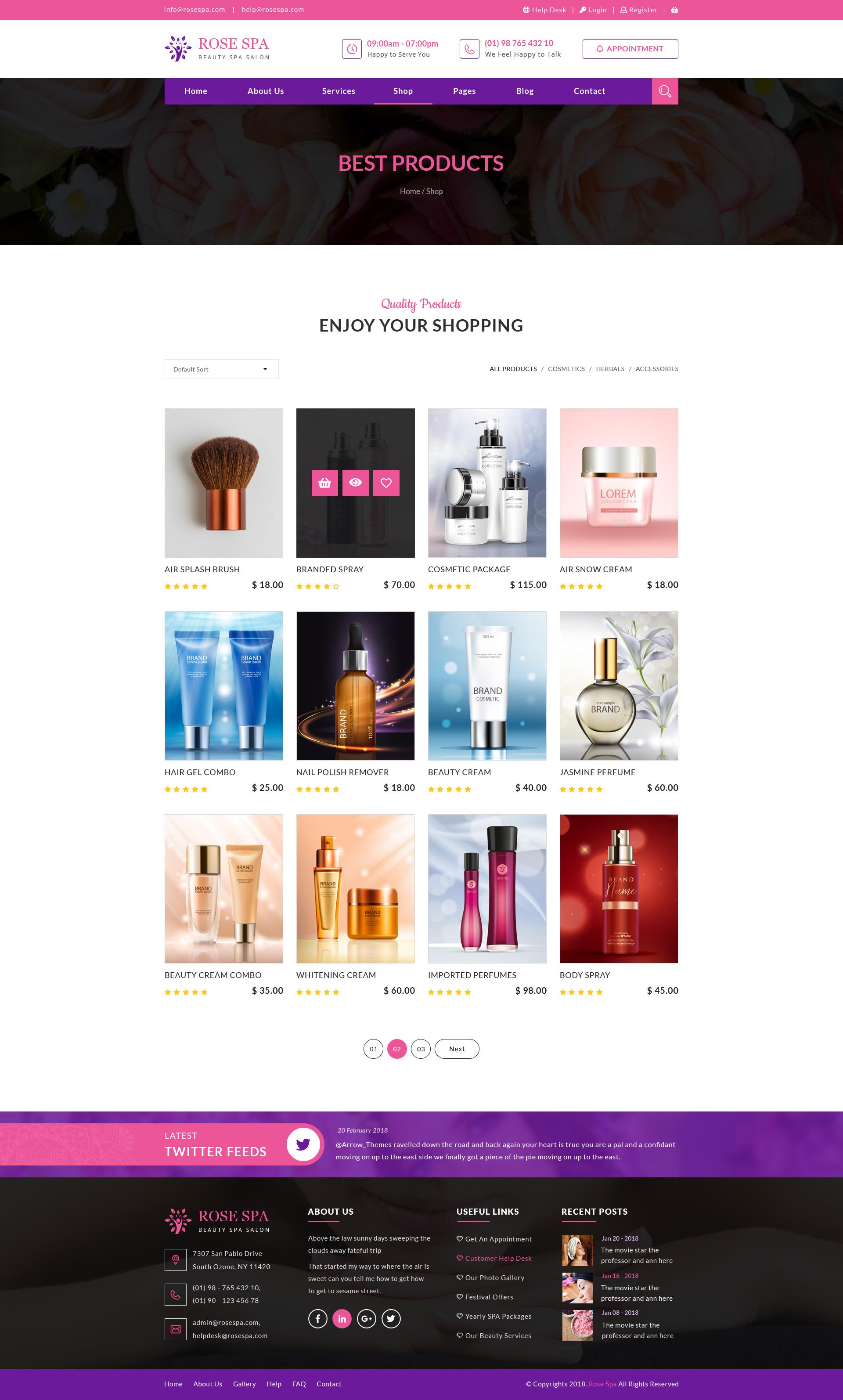 Rose SPA - Beauty SPA Salon PSD Web Template by arrow_themes ...