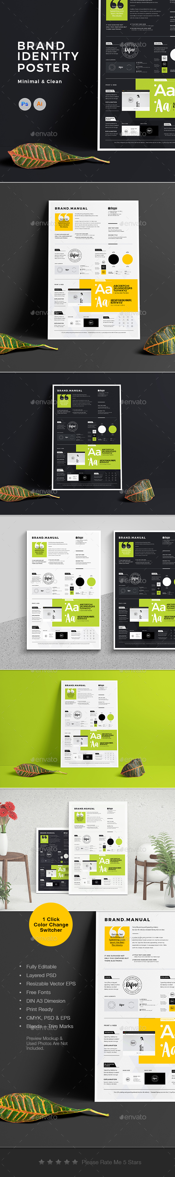 Brand Identity Poster - Corporate Flyers