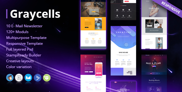 Graycells - Email v7 | 10 Multipurpose Responsive Template - Email Templates Marketing