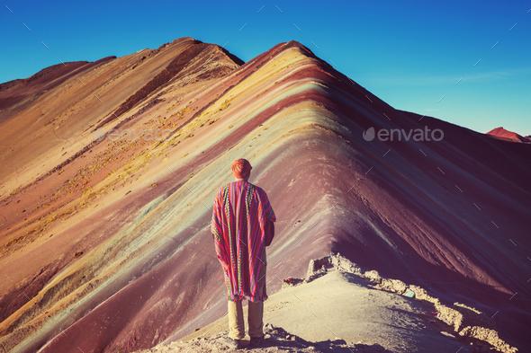Rainbow mountain - Stock Photo - Images