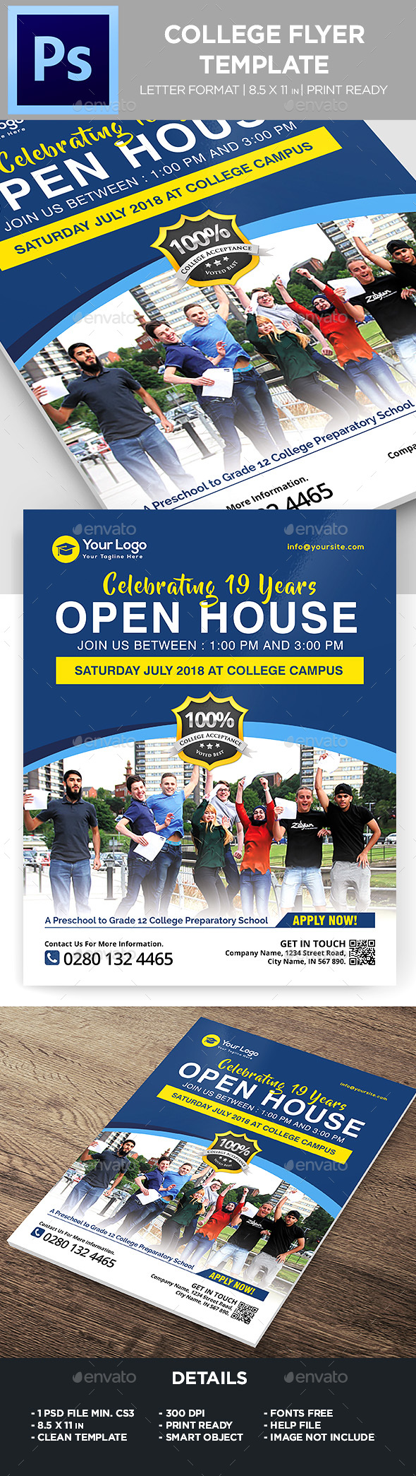 College Flyer - Templates - Flyers Print Templates
