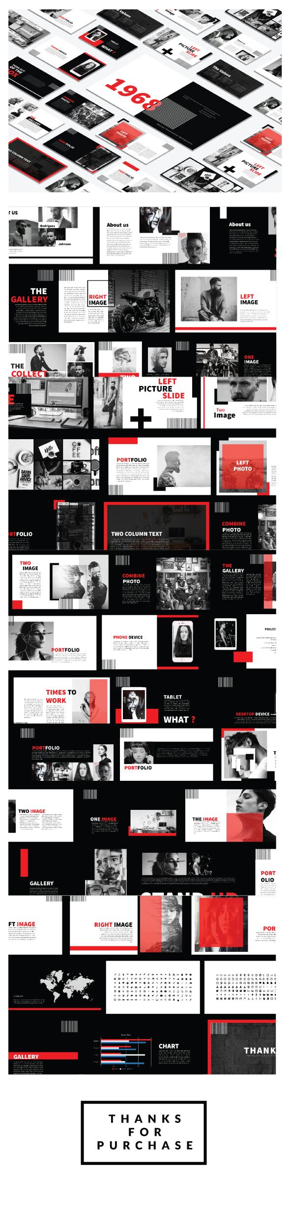 Black Minimal Powerpoint template - Creative PowerPoint Templates