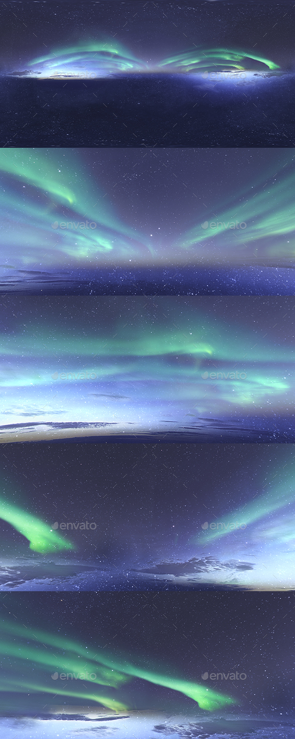 Skydome HDRI - Northern Lights and Stars - 3DOcean Item for Sale