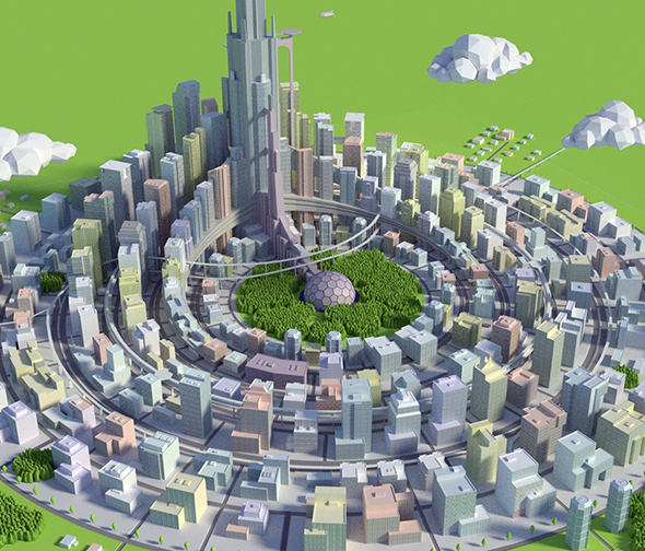 city - 3DOcean Item for Sale