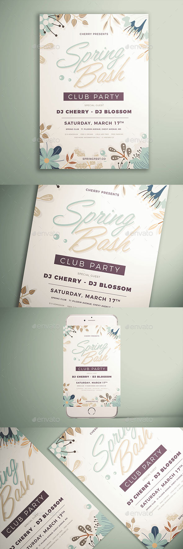 Spring Party Flyer - Events Flyers