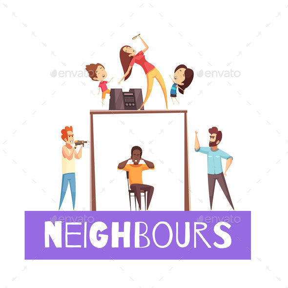 Neighbors Design Concept - Buildings Objects