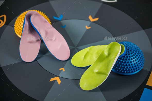 Insoles and balance pad - Stock Photo - Images