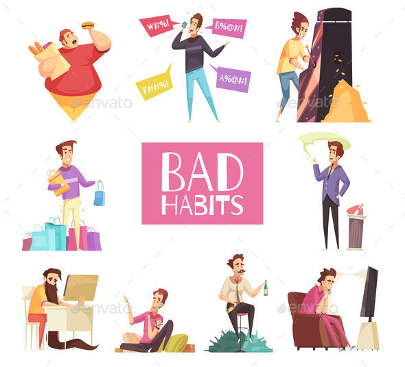 Bad Habits Set - Miscellaneous Vectors