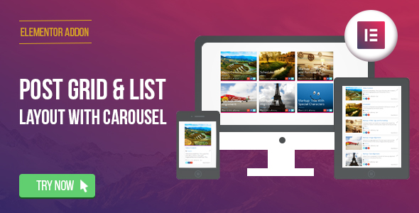 Elementor Page Builder - Post Grid/List Layout with Carousel - CodeCanyon Item for Sale